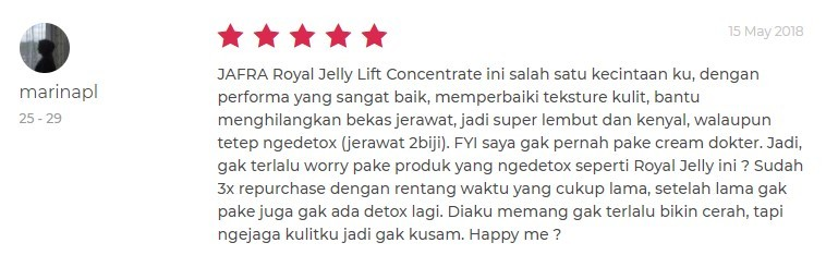 serum jafra royal jelly